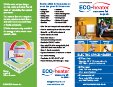 ECO-heater tri-fold marketing brochure