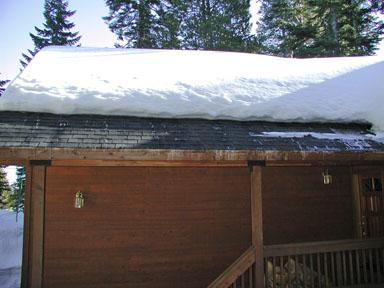 Heated roof edge