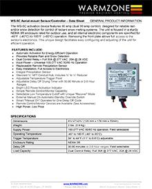 WS-5C snow sensor data sheet cover