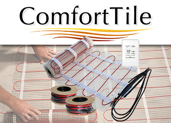 ComfortTile floor heating cable and mats