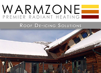 Warmzone roof de-icing systems