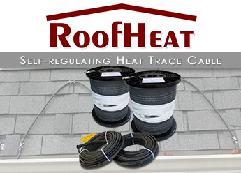 Self-regulating heat trace cable for metal standing seam roofs